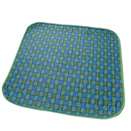 SUPRIMA Sitzauflage ohne Band 45 x 45 karo blau grün Sitzauflage 1 Stück