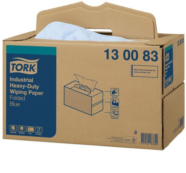 TORK Extra Starke Industrie Papierwischtücher W7 Handy Box 200 Blatt