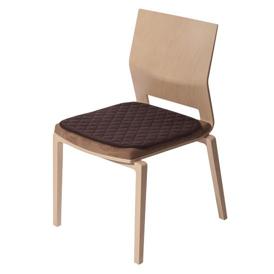 SUPRIMA Sitzauflage ohne Band 45 x 45 mokka Sitzauflage 1 Stück