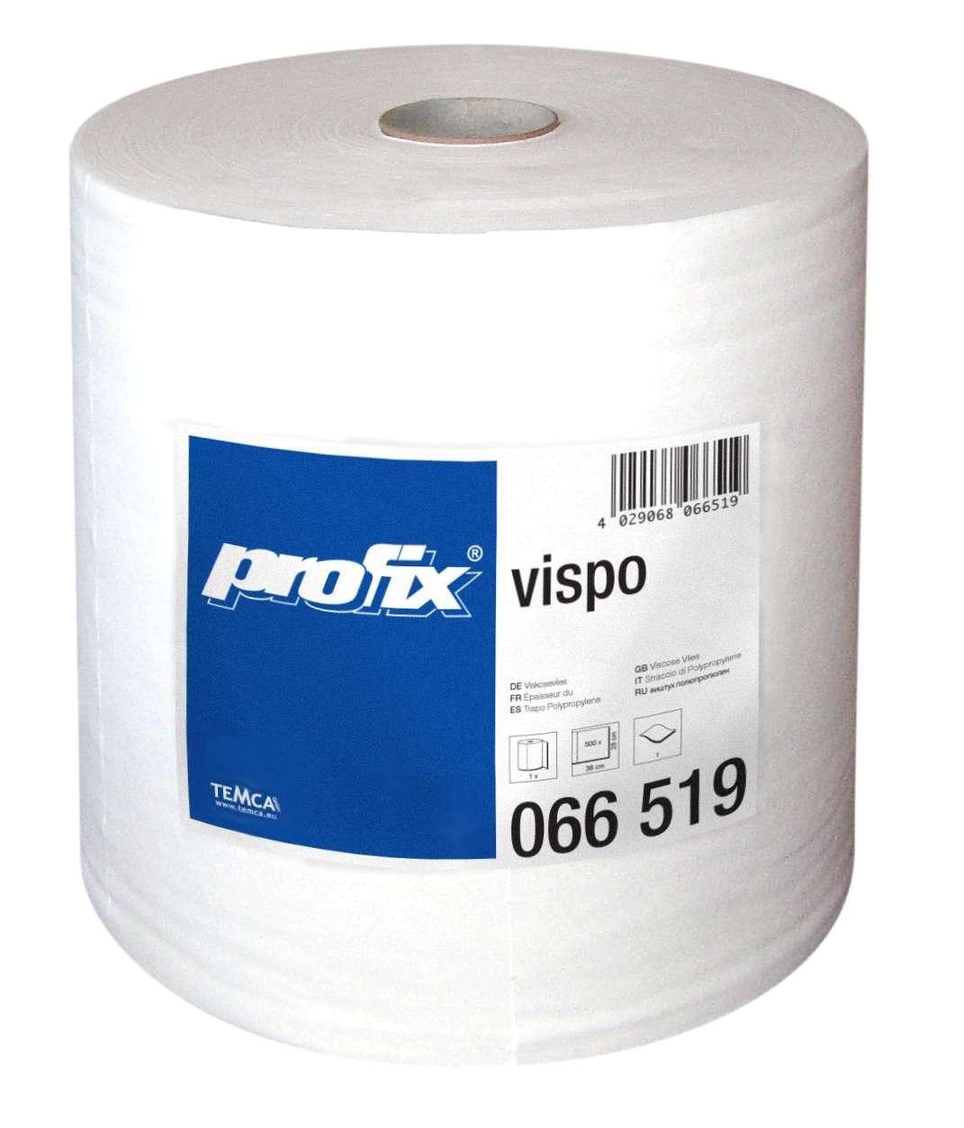TEMCA profix vispo Poliertuchrolle 28 x 36 cm weiß Rolle a 500 Blatt