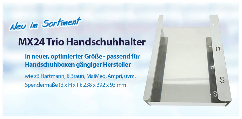 Sliderbanner - Optimierter MX24 Trio flat Handschuhhalter