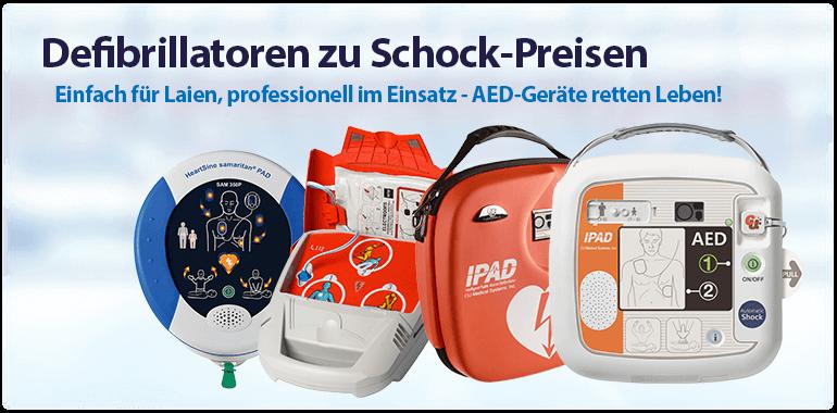 Sliderbanner - Defibrillatoren zu Schock-Preisen