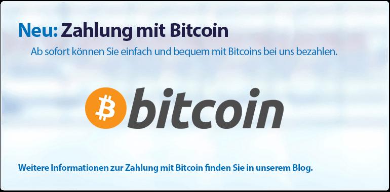 Sliderbanner - Zahlung mit Bitcoin